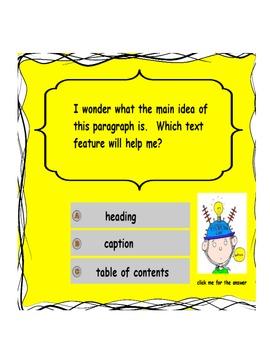 Nonfiction Text Features Common Core flipchart