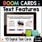 Nonfiction Text Features Distance Learning BOOM CARDS™ Task Cards