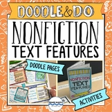 Nonfiction Text Features Doodle Notes with 3 Activities and Passages