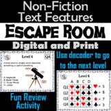 Nonfiction Text Features Activity Escape Room