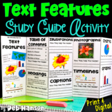 Nonfiction Text Features Foldable Craftivity | PDF & Digital | Distance Learning