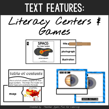 Informational Text Features- Literacy Center Activities