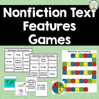 Nonfiction Text Features Games