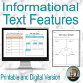 Nonfiction Text Features Graphic Organizers, Informational