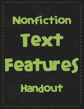 Nonfiction Text Features Handout