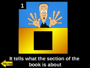 Nonfiction Text Features Hollywood Squares game