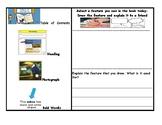 Nonfiction Text Features Hunt Response Sheet