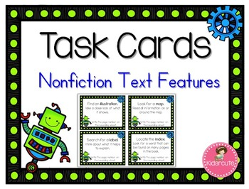 Task Cards - Nonfiction Text Features