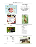 Nonfiction Text Features Individual Student Chart