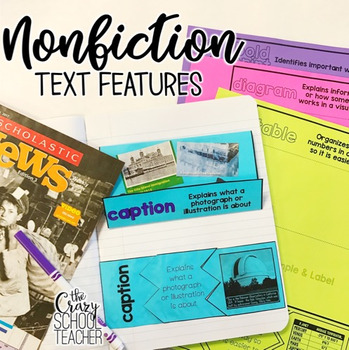 Nonfiction Text Features Interactive Notebook