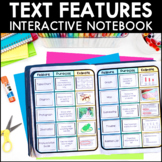 Text Features - Reading Interactive Notebook | Distance Learning