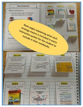 Nonfiction Text Features Interactive Notebook for Any Selection