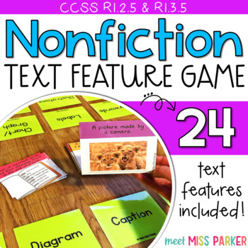 Nonfiction Text Features Kapow - Game / Center Common Core