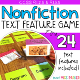 Nonfiction Text Features Game, Activity, Center