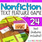 Nonfiction Text Features Game, Nonfiction Activity Center