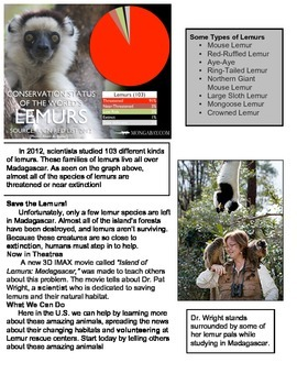 Nonfiction Text Features: LEMURS