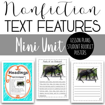 Nonfiction Text Features Mini Unit - All About Elephants