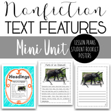 Nonfiction Text Features Mini Unit - All About Elephants