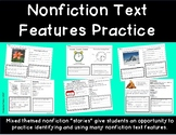 Nonfiction Text Features- Mixed Themed Worksheets to Practice