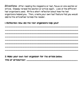 Nonfiction Text Features/Organizers