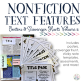 Nonfiction Text Features {PART 2}: Posters & Scavenger Hunt