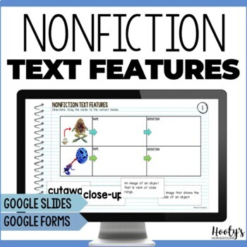 Nonfiction Text Features Paperless Practice for Google Apps