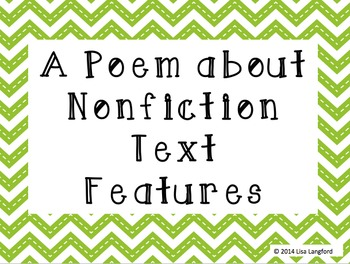 Nonfiction Text Features Poem