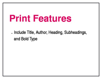 Nonfiction Text Features Poster Set