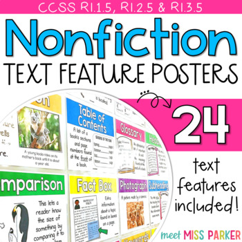 Nonfiction Text Features Posters - Common Core