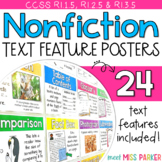 Nonfiction Text Features Posters, Nonfiction Text Features Word Wall