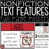 Nonfiction Text Features Posters {25 Terms with Definition and Example}