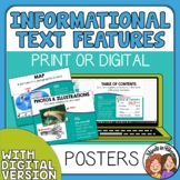 Nonfiction Text Features Posters - Mini Anchor Charts for