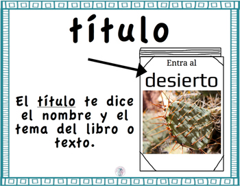 Nonfiction Text Features Posters (Spanish)