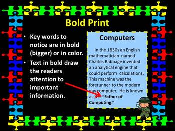 Nonfiction Text Features  PowerPoint with Scavenger Hunt Activity