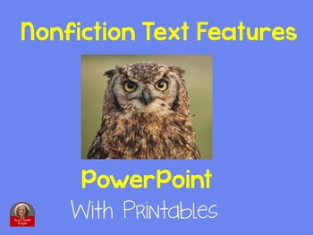 Nonfiction Text Features PowerPoint  Bundle