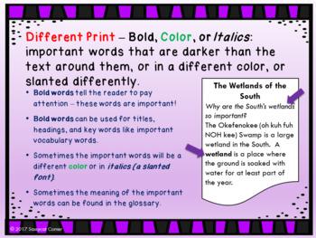 Nonfiction Text Features Powerpoint - Editable