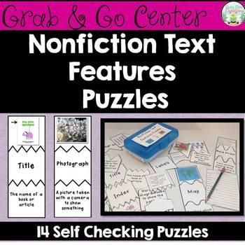Nonfiction Text Features Puzzles
