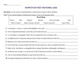 Nonfiction Text Features: Quiz