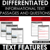 Nonfiction Text Features Passages - Google Classroom Distance Learning