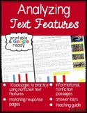 Nonfiction Text Features Reading Comprehension Passages with Questions