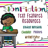 Nonfiction Text Features and Writing - Posters,  Graphic Organizer, and More