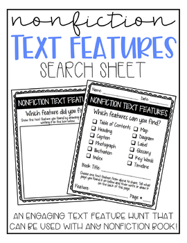 Nonfiction Text Features Search