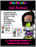 Nonfiction Text Features Small Group Reference Cards