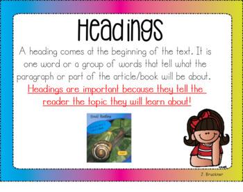 Nonfiction Text Features Smartboard