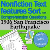 1906 San Francisco Earthquake Nonfiction Text Features Sor