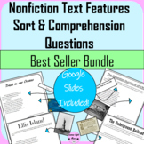Nonfiction Text Features Sort Bundle with Comprehension Questions