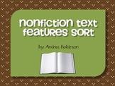 Nonfiction Text Features Sort Center