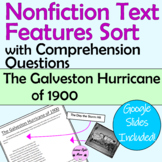 "Nonfiction Text Features Sort with Questions ""The Galveston Hurricane of 1900"""