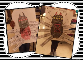 Nonfiction Text Features ~ Spider Craftivity