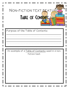Nonfiction Text Features Student Booklet